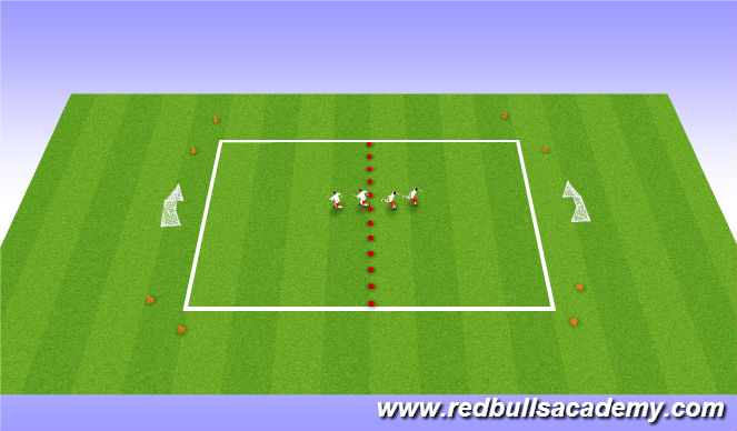 Football/Soccer Session Plan Drill (Colour): 1VS1 (Conditioned game)