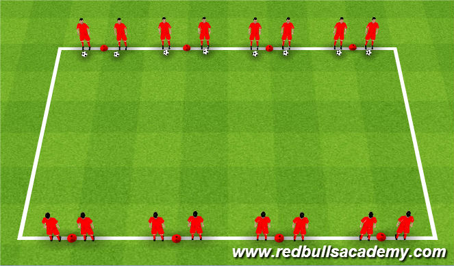 Football/Soccer Session Plan Drill (Colour): Receiving Game