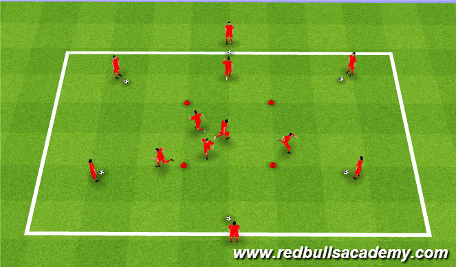 Football/Soccer Session Plan Drill (Colour): Receiving Drill