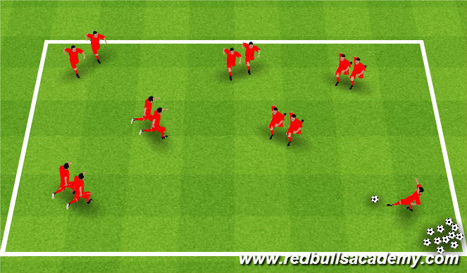 Football/Soccer Session Plan Drill (Colour): Passing Blasters