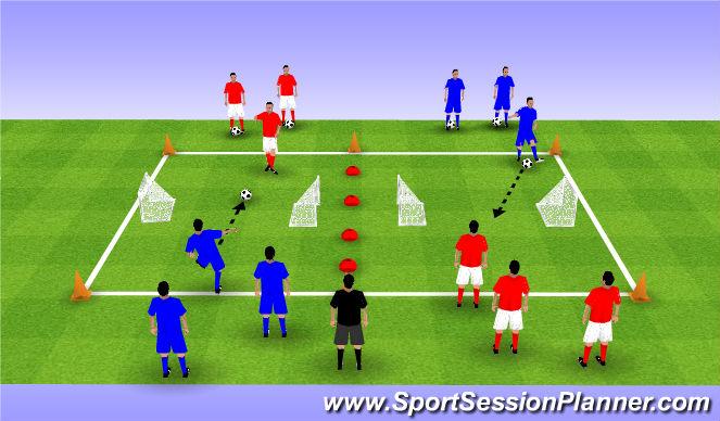 Football/Soccer Session Plan Drill (Colour): Main 1v1