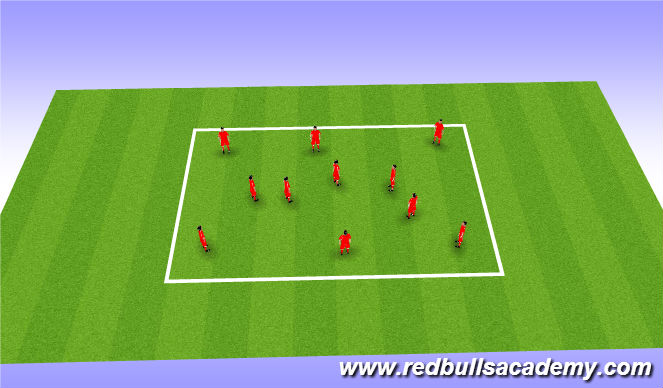 Football/Soccer Session Plan Drill (Colour): technical part 1