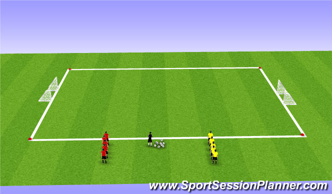 Football/Soccer Session Plan Drill (Colour): Gett Outta Here