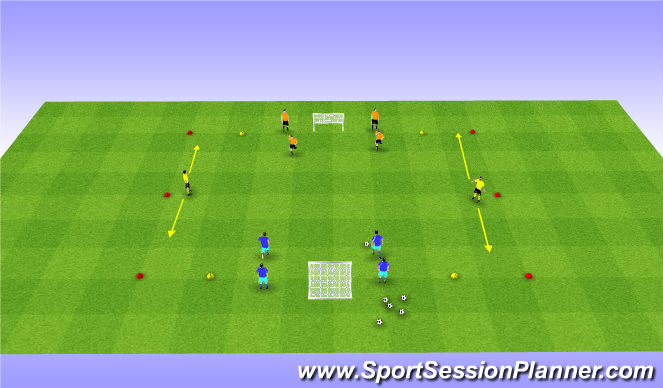 Football/Soccer Session Plan Drill (Colour): Stat/oef 1