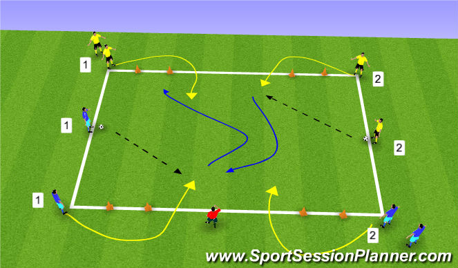 Football/Soccer Session Plan Drill (Colour): Stat/oef 3