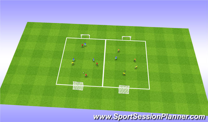 Football/Soccer Session Plan Drill (Colour): Stat/oef 4