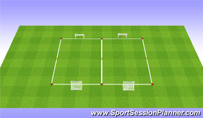 Football/Soccer Session Plan Drill (Colour): Oef 1