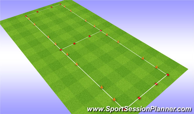 Football/Soccer Session Plan Drill (Colour): Oef 2