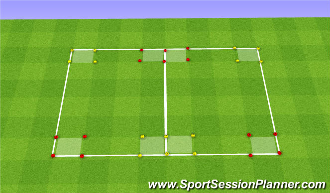 Football/Soccer Session Plan Drill (Colour): Oef 3
