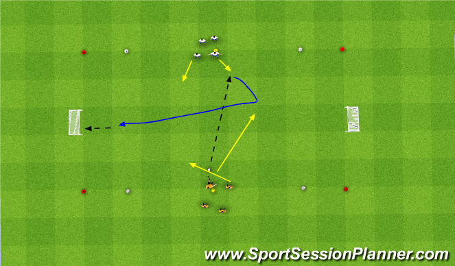 Football/Soccer Session Plan Drill (Colour): Oef 4