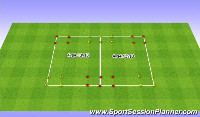 Football/Soccer Session Plan Drill (Colour): Oef 5