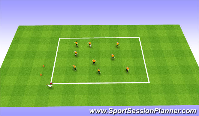Football/Soccer Session Plan Drill (Colour): Slagvoetbal