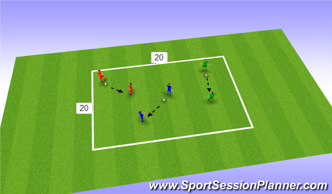 Football/Soccer Session Plan Drill (Colour): pass n move