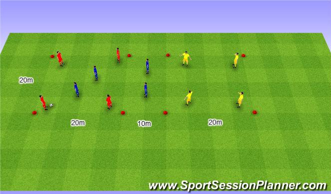 Football/Soccer Session Plan Drill (Colour): Rondo 4v4+4. Dziadek 4v4+4 (10').