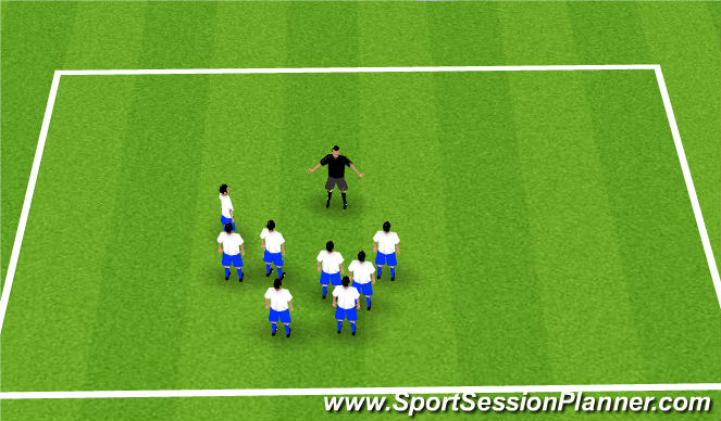 Football/Soccer Session Plan Drill (Colour): Welcome/ Name game