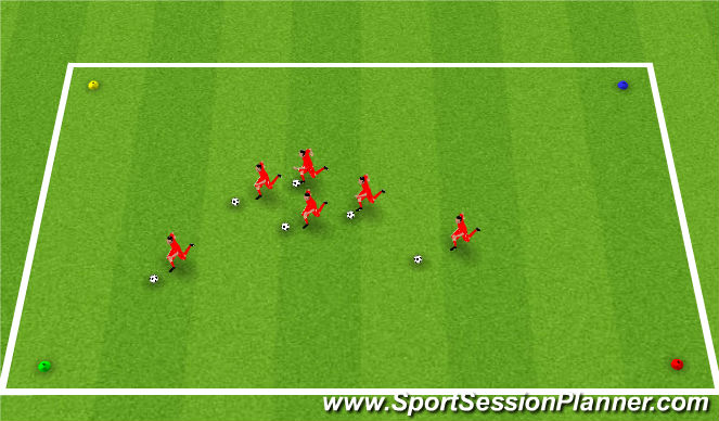 Football/Soccer Session Plan Drill (Colour): Fruit Corners