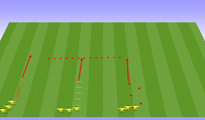 Football/Soccer Session Plan Drill (Colour): Speed and Agility-Activity I