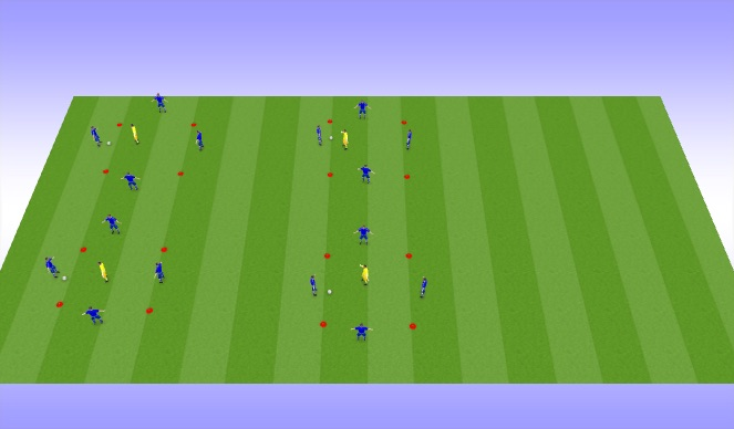 Football/Soccer Session Plan Drill (Colour): Intro to possession-Activity II