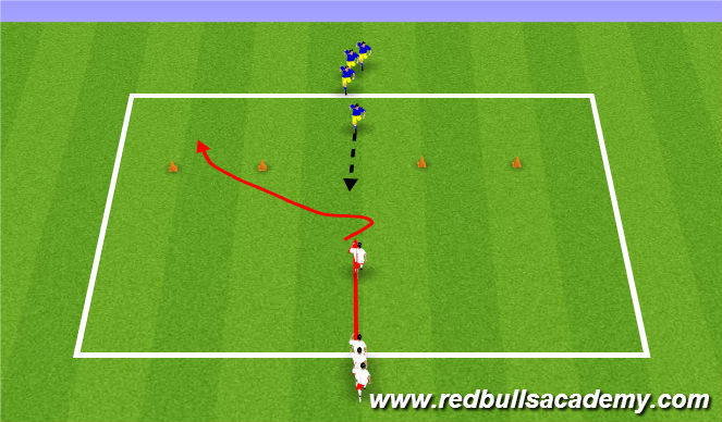 Football/Soccer Session Plan Drill (Colour): Main activity 1 Week 1 only