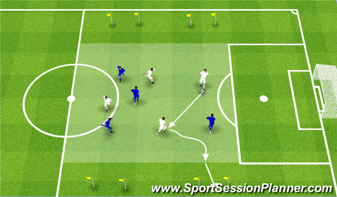 Football/Soccer Session Plan Drill (Colour): Gra z akcentem na uderzenie WCS