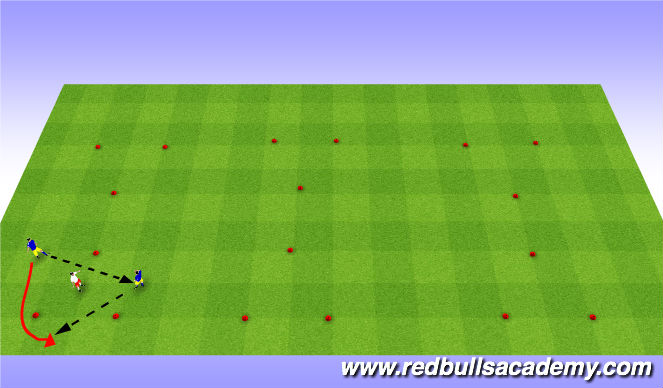 Football/Soccer Session Plan Drill (Colour): Main-Theme(Opposed