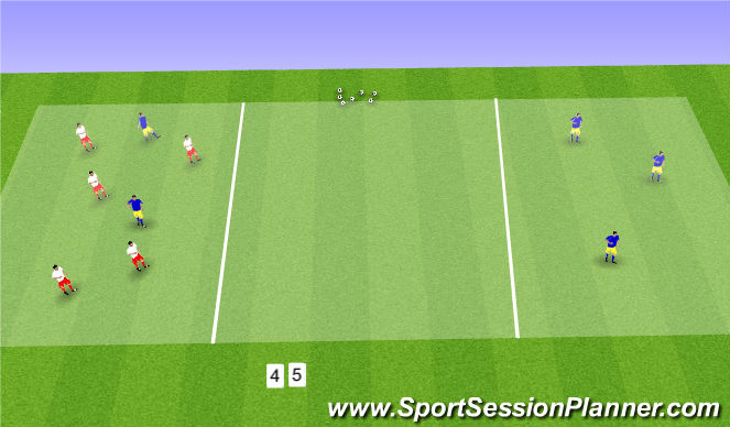 Football/Soccer Session Plan Drill (Colour): Cross River