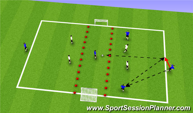Football/Soccer Session Plan Drill (Colour): 5 V 4