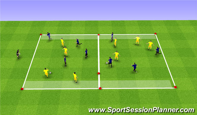 Football/Soccer Session Plan Drill (Colour): Endzone SSG