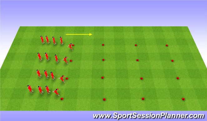 Football/Soccer Session Plan Drill (Colour): Fifa 11 Warm up