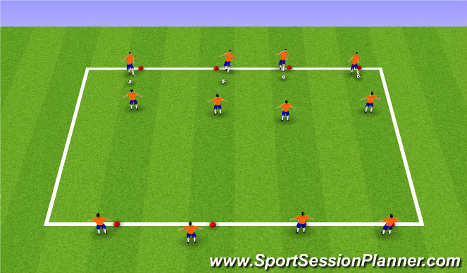 Football/Soccer Session Plan Drill (Colour): Warm Up Turns
