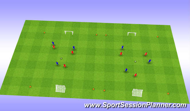 Football/Soccer Session Plan Drill (Colour): Partijvorm