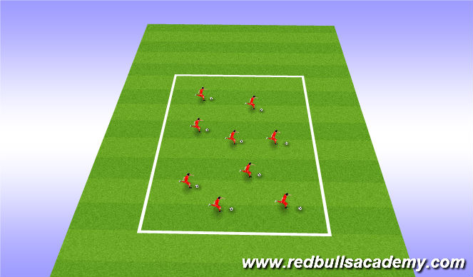 Football/Soccer Session Plan Drill (Colour): warm up part A