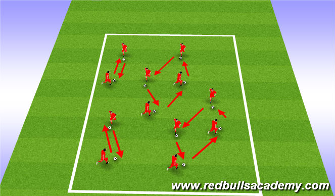Football/Soccer Session Plan Drill (Colour): warm up B