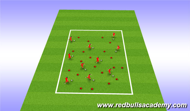 Football/Soccer Session Plan Drill (Colour): warm up C