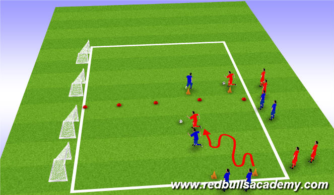 Football/Soccer Session Plan Drill (Colour): Main Theme A