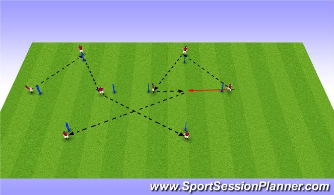 Football/Soccer Session Plan Drill (Colour): Development phase