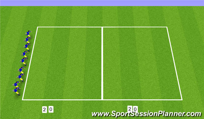 Football/Soccer Session Plan Drill (Colour): 20/20s