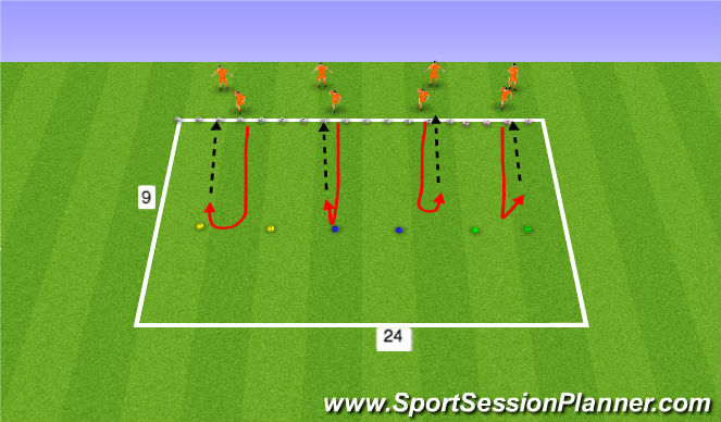 Football/Soccer Session Plan Drill (Colour): Move Review lines of 2 415-430