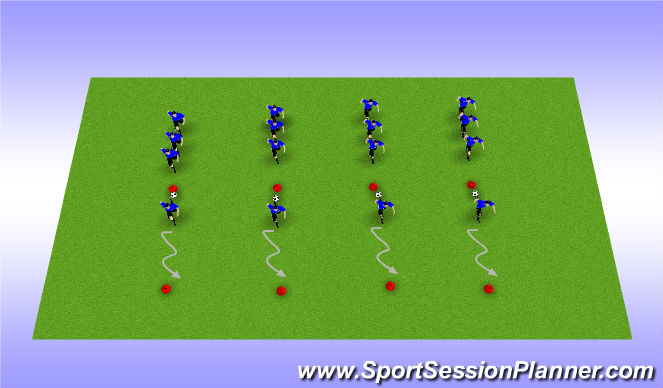 Football/Soccer Session Plan Drill (Colour): Warmups