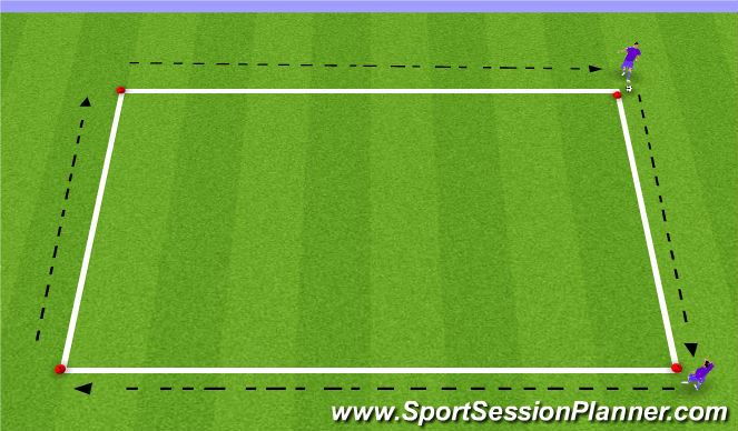 Football/Soccer Session Plan Drill (Colour): Expanded Passing Square