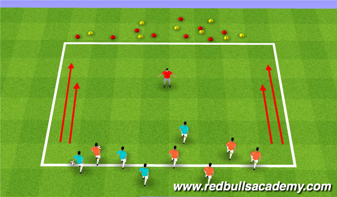 Football/Soccer Session Plan Drill (Colour): Zookeeper!