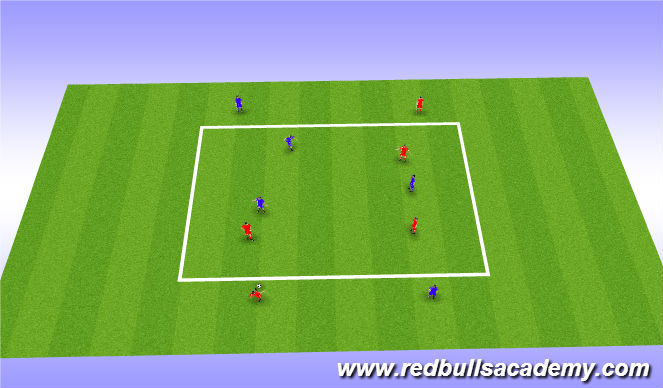 Football/Soccer Session Plan Drill (Colour): Activity 2- Receiving tactical