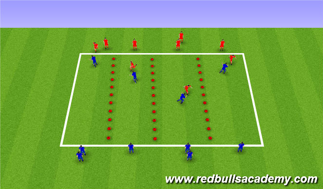 Football/Soccer Session Plan Drill (Colour): Jockey