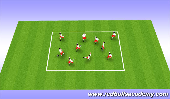 Football/Soccer Session Plan Drill (Colour): Ball mastery/receiving the ball