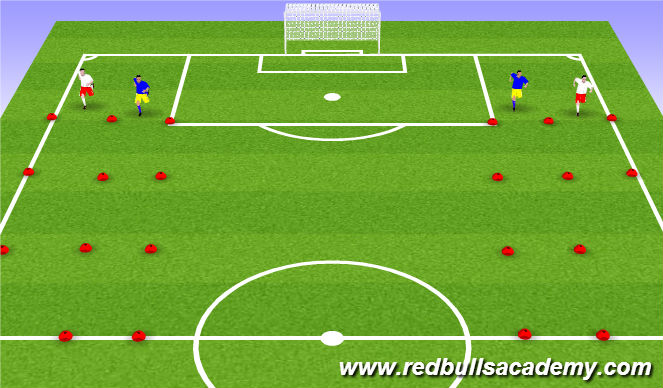 Football/Soccer Session Plan Drill (Colour): Warm-Up/Physical Literacy