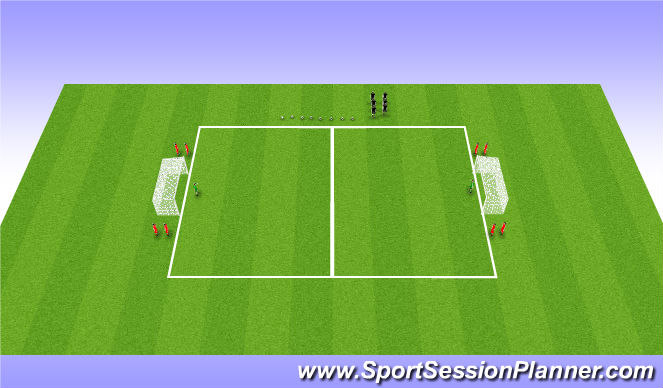 Football/Soccer Session Plan Drill (Colour): Risky Business - Youth Module