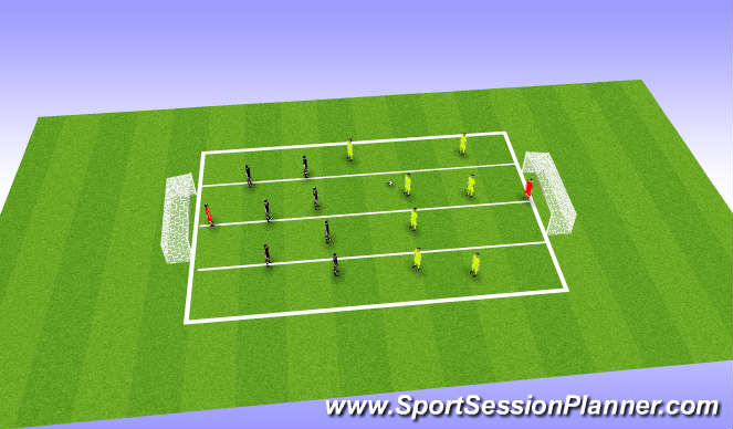 Football/Soccer Session Plan Drill (Colour): Screen 4 Defending