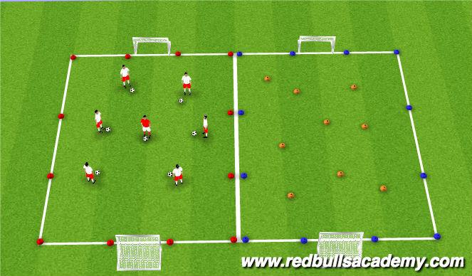 Football/Soccer Session Plan Drill (Colour): Sail Treasure Island