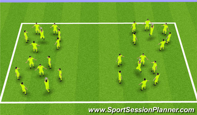 Football/Soccer Session Plan Drill (Colour): Keepy Up