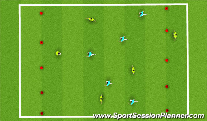 Football/Soccer Session Plan Drill (Colour): GK Football